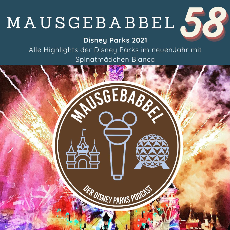 Disney Parks Highlights 2021 Cover - Mausgebabbel 58